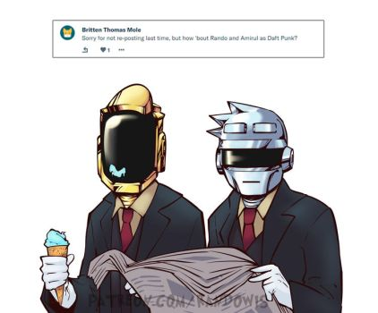 Weekly Doodles - Daft Punk? by RandoWis
