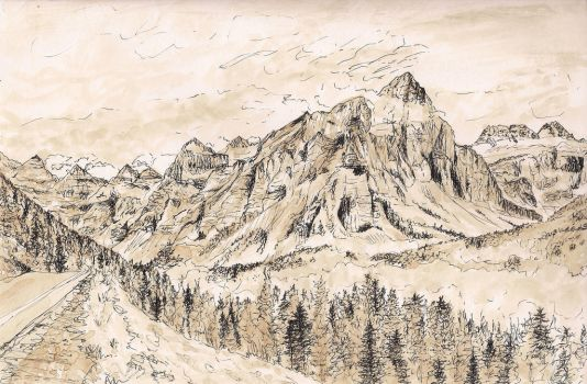 Mountains by adriennefaye