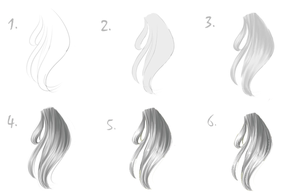 VIDEO TUTORIAL - How To Draw: Free Hair by Kipichuu