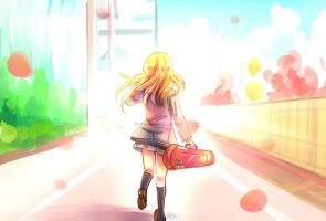 {your lie in april} broke into a run by Paluumin