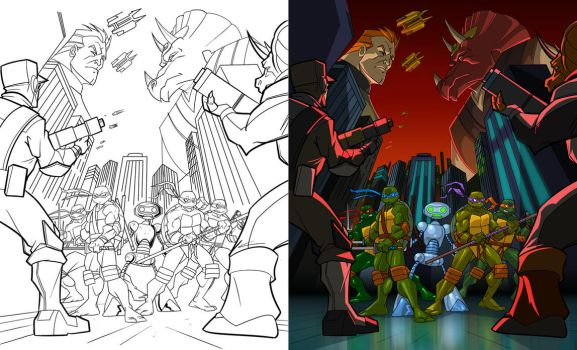 TMNT Season 2, PT 1 DVD Cover Colors by Nexxorcist