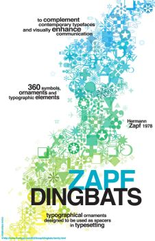 Zapf Dingbats Poster by butbrightlylit