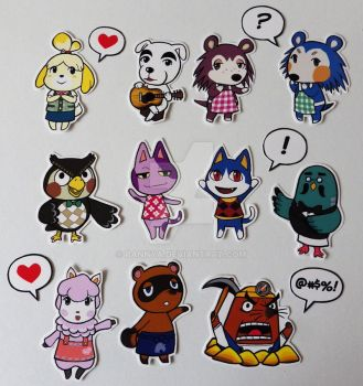 Animal Crossing Sticker Time! by Pannya