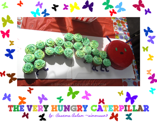 Cake+cupcakes: The Very Hungry Caterpillar by simonsaz3