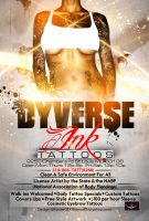 Dyverse Ink Tattoos Flyer by Numbaz
