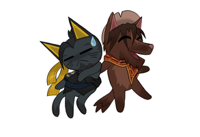Animal Crossing Hanzo and Jesse by Grump-Support