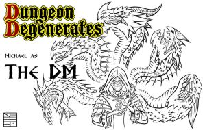 Dungeon Degenerates DM lineart by IADM