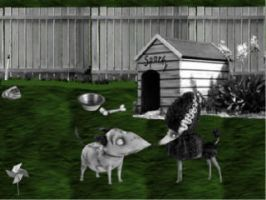 frankenweenie sparky and persephone by queenashley455