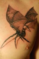 Bat Web Tattoo by NateTheKnife
