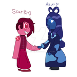 Star Ruby and Azurite by DualJewels