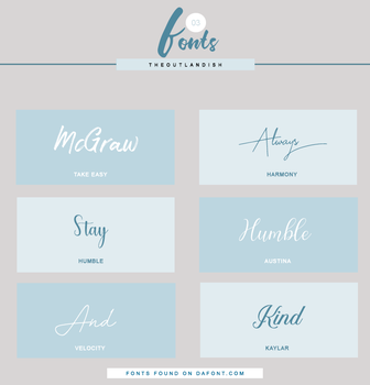 Font Pack 3 PREVIEW by theoutlandish