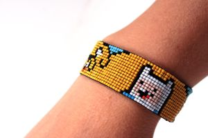 Adventure Time: Finn and Jake Bracelet by PookNero