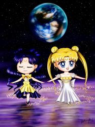 Sailor Moon - Princess Serenity and Her Advisor by TheKissingHand