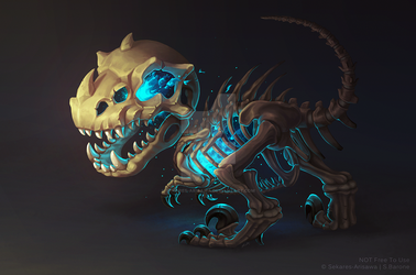 Fossilized Lich Hatchling by Sekares-Arisawa