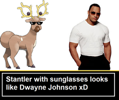 Stantler is secretly The Rock by TheRedPsycho