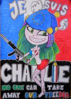 JE SUIS CHARLIE (Olympia as Europe) by 19Draxa06