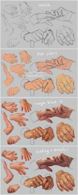 Hand Study 3 - Young and Old - Steps by irysching