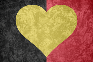 K. of Belgium ~ Grunge Heart Flag by Undevicesimus