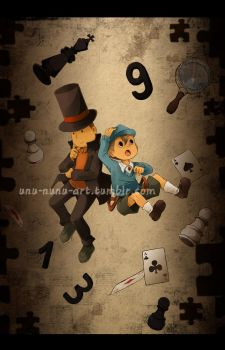 Commission - Professor Layton... oh, and also Luke by Unu-Nunium