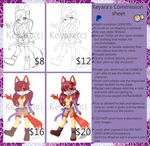 Keyara's commission sheet by KeyaraHedgehog09