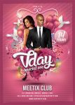 valentine day / Vday Party Flyer template by n2n44