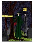 Sherlock Holmes on the Hunt Color Art by herbertzohl