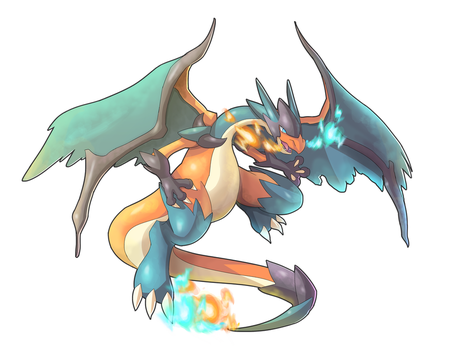Commission: Charizard X and Y Fusion by ultimatemaverickx