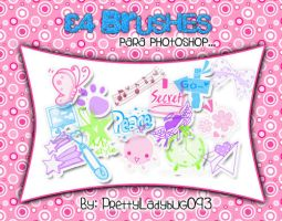 34 Brushes Kawaii by PrettyLadybug093
