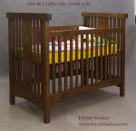 Arts and Crafts Crib with through tenon top by DryadStudios
