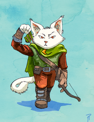 Feline Archer by Hyptosis