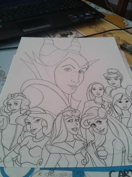Male Maleficent and Disney Princess (Unfinished) by CrimsonCrystalBlood