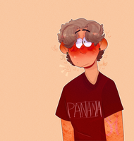 His face gets red when hes nervous by superjork