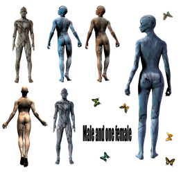 Male and One Female png by mysticmorning