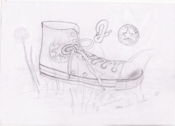 My rescued Converse by MAD-Marki