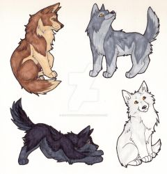 Four Wolves by CaptainMorwen