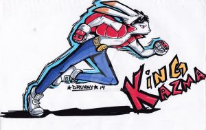 Summer Wars- King Kazma by Drunny