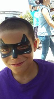 batman face paint by funfacesballoon