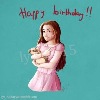 Marzia Bisognin birthday ! by Ly-s