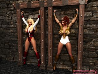 Teela and Adora captured by mrbunnyart