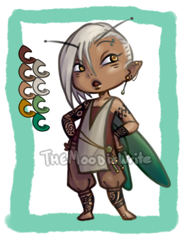 [CLOSED] Auction: Tattooed Faerie (Androgynous) by TheMoodisWrite