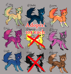 Adopts - 7/9 OPEN by NamelessCoyote