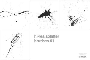 hi-res splatter brushes 01 by karmagraphics