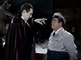 Bud Abbott Lou Costello Meet Frankenstein COLORED by Lapin-Volant
