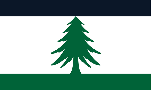 Stylized Flag of Maine by FitzGeraldian