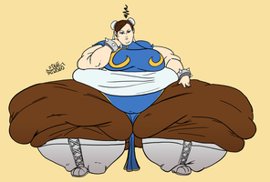 Commission: More of Chun Li's thighs. by Idle-Minded