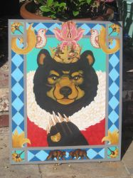 Deco Bear King by ShadowWalkerInc