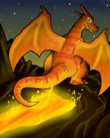 Charizard by DrowningArrows