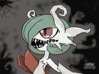 Nightmare Mega Gardevoir - with Background by pigeon-princess