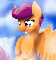 Scootaloo lineless practice by RalekArts