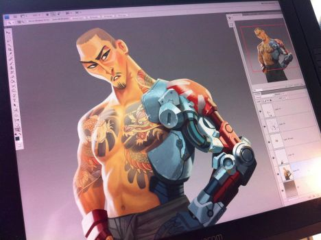 Yakuza WIP by mhannecke